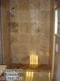 Bathroom Remodel Tile Shower 16 X 16 Shower Tile Atlanta Shower Remodel Travertine Shower