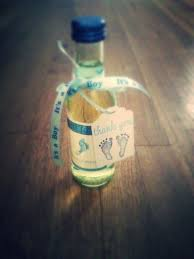 diy baby shower favors i used mini barefoot wine bottles moscato