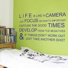 aliexpress com buy life is like a camera inspirational wall aliexpress com buy life is like a camera inspirational wall stickers wall decals wall quotes vinyl mural poster 28