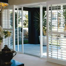 Plantation Shutters On Sliding Patio Doors Plantation Shutters For Sliding Glass Doors With Floor And Black