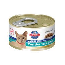 science diet feline mature tender tuna dinner wet cat food