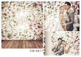cheap photography backdrops 8x12ft white flowers branch wall wooden floor wedding custom