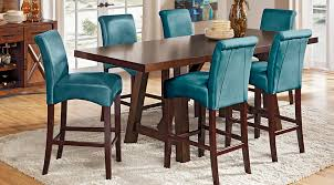 Counter Height Dining Room Table Sets by Mango Burnished Walnut 5 Pc Counter Height Dining Room Dining