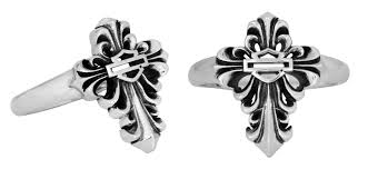 hdr0311 harley davidson womens 925 silver filigree cross ring