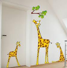 kinderzimmer wandtattoos giraffen wandtattoo
