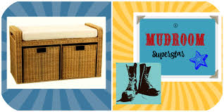 mudroom laundry room wicker bench w cubbies laundry shoppe