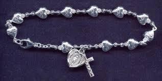 rosary bracelet of sacred heart of jesus rosary bracelet