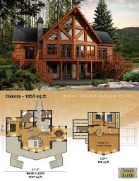 log cabin floor plans with loft log cabin style house plans