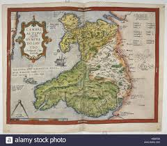 Map Of Wales Lord Burghley U0027s Atlas Caption U0027coloured Printed Map Of Wales