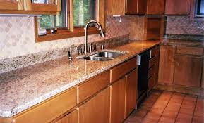 kitchen countertop backsplash brown granite kitchen countertop w travertine backsplash