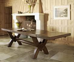 french valley oak dining table monastery x leg with optional
