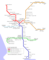 la metro rail map los angeles map