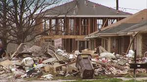 hurricane katrina storm damaged homes chalmette 11 stock video