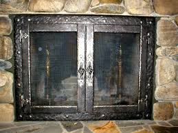 contemporary fireplace screens with doors awesome fireplace