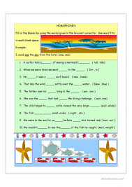 long u0027a u0027 sound homophones worksheet free esl printable