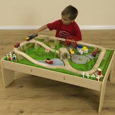 wooden train set table buy small world wooden train set and table tts international