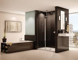 how to make a 4 wide walk in shower semi frameless in line pivot shower screen with rectangular acrylic pan premium banyo line pic