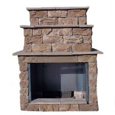 Sunjoy Amherst Fireplace by 72 In Fossill Brown Grand Outdoor Fireplace Kit Fbgfpl The Home