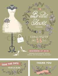 what do you put on a bridal shower registry bridal shower invitation set wedding dress and bridal accessories