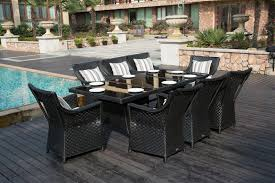 Rattan Patio Dining Set by 8 Seater Black Rectangle Rattan Dining Table Furniture Maxi
