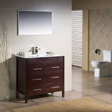 Porcelain Bathroom Vanity Morris 36 With Porcelain Top