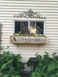 Metal Window Boxes For Plants - window box made plywood accented with mini corrugated metal and