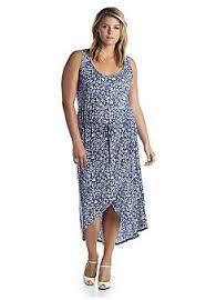 jones new york signature plus size sleeveless printed wrap dress