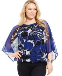alfani blouses alfani plus size sheer printed tie front blouse only at macy s