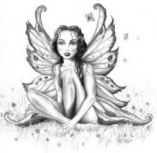Fairy And Flower Tattoo Designs Flower And Fairy Themed Tattoo Design Sketch Tattoomagz