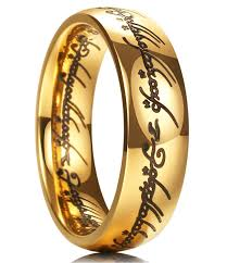 titanium gold rings images King will magic 7mm titanium ring gold plated lord of ring comfort jpg