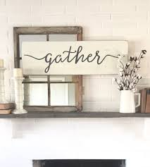 gather wood sign rustic wall decor wall decor gather
