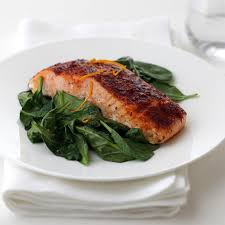 smoky paprika smoked paprika roasted salmon with wilted spinach mccormick gourmet