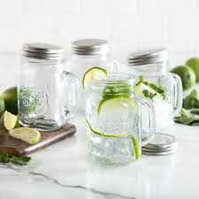 ksp ice cold glass mason drinking jar set of 4 clear kitchen