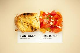 designers put italian food in pantone color system
