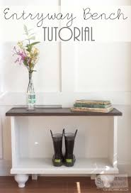 White Entry Table by Remodelaholic Diy Built In Entryway Table With Board And Batten