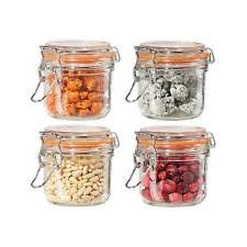 glass kitchen canisters oggi glass kitchen canisters jars ebay