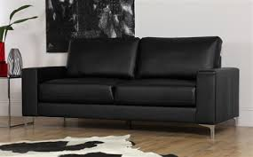 Leather 3 Seater Sofas Baltimore 3 Seater Leather Sofa Black Only 349 99 Furniture