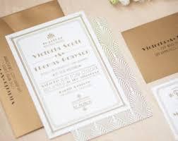 wedding invitations etsy deco wedding invitation etsy