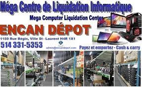 entrepot de produit de bureau encan depot pc laptop liquidation