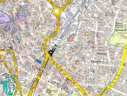 map az leicester a z wall map