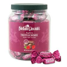 raspberry trufflecremes bulk 28 oz dilettante chocolates