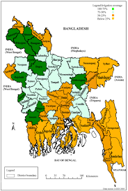 Map Of Bangladesh Impact Of Irrigation On Food Security In Bangladesh For The Past
