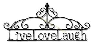 Love Laugh Live Second Life Marketplace Live Love Laugh Wrought Iron Wall Decor