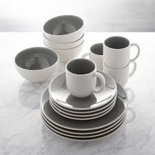 jars tourron grey 16 dinnerware set crate and barrel