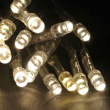 battery operated 20 led string light set warm white clear cord