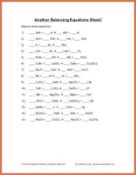 balance chemical equations worksheet bio example