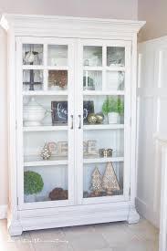 Curio Cabinets Pair Farmhouse Style Christmas Curio Cabinet Farmhouse Style Spaces