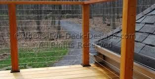 cable deck railing a more decor