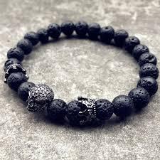 black skull bracelet images Skull crown bracelet aflerio handcrafted bracelets jpg