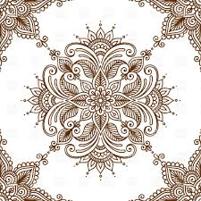 kaleidoscopic floral ethnic ornament vector clipart image 28765